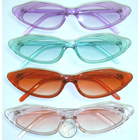 SMALL CRYSTAL COLOR FRAMES SUNGLASSES RETRO FEEL