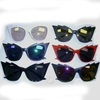 EDGY TOP & CAT STYLE SUNGLASSES IN ASSORTED COORS & LENS