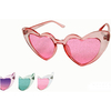 HEART SHAPE GLITTER LENS SUNGLASSES