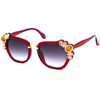 DECORATIVE LADIES SUNGLASSES IN ASSORTED COLORS