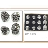 SKULL METAL MENS RINGS ASST SIZES