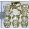 MENS SIZES $ SIGN & PIMP STYLE RINGS WITH CLEAR GEMS