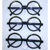 CLEAR LENS, ROUND BLACK FRAMES NERDY GLASSES