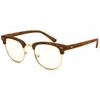CLEAR LENS SOHO FRAMES WITH WOOD LOOK GRAIN TOP SUNGLASSES