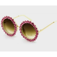 ROUND LARGE FRAMES WITH LARGE RHINESTONE FRONT ASST.