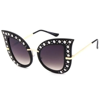 BUTTERFLY WINGS LOOK W/ GEMSTONES IN  ASSORTED COLORS SUNGLASSES