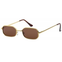 LENNON RECTANGLE  DARK LENS SUNGLASSES