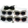 GEM STONES LINED, STARS ON CORNERS. ASSORTED COLOR SUNGLASSES