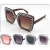 ROCKSTAR SHAPE FAUX GEM LOOK SUNGLASSES