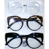 CLEAR LENS ROUNDISH LENS, CAT LOOKING FRAMES SUNGLASSES