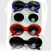 JACKIE O/COBAIN STYLE FRAMES IN 4 COLORS, DARK LENS SUNGLASSES