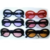 JACKIE O/COBAIN STYLE FRAMES 10 BLACK, 2 RED COLOR LENS SUNGLASS
