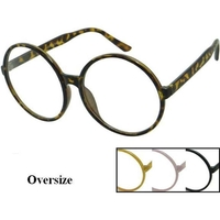 CLEAR LENS GLASSES, VERY LARGE ROUND SHAPE, MOD AND RETRO LOOK