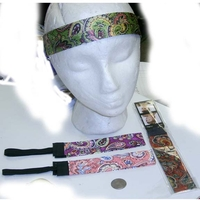 MOD HEADBAND WITH PAISELY LEAVES AND A BIT OF GLITTER EFFECT