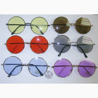 JANIS SIZE SUNGLASSES, ASSORTED COLOR LENSES, FLAT FRAMES