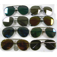 REVO LENS AVIATORS LOOK, 2 TOP BRIDGES, THICKER  RIM SUNGLASSES
