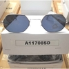 6 SIDED METAL FRAMES LENNON LOOKING SUNGLASSES, DARK LENS