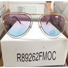 DOUBLE RIM AVIATOR LOOKING OCEAN LENS SUNGLASSES