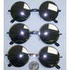 MIRROR LENS  LARGE SIZE LENNON SUNGLASSES, GOLD, SILVER & BLACK