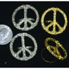 PEACE SIGN RING GOLD/SILVER, ADJUSTABLE BAND, VERY LIMITED STOCK
