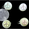PEACE SIGN IN A SMALL CLEAR DOME, ASSORTED COLORS