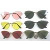 FLAT FRAMES,CAT SHAPE METAL, IN ASSORTED COLOR LENSES