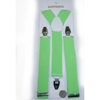 NEON GREEN WIDE SUSPENDERS, HIGH QUALITY CLIPS