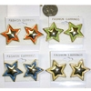 STARS POST STYLE EARRINGS IN GOLD AND A NEON COLOR