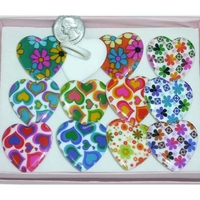 HEART SHAPE PLASTIC RING WITH COOL DESIGNS
