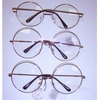 CLEAR LENS LARGE ROUND METAL FRAMES IN ROSE GOLD,SPRING TEMPLE