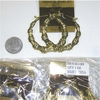 GOLD COLOR SMALL ROUND METAL BAMBOO EARRINGS, 1 DZ ONLY IN STOCK