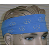 PEACE SIGN HEADBAND 3 INCH WIDE ASSORTED