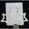 WHITE STARS PLASTIC EARRINGS