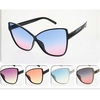 OCEAN LENS, LARGE BUTTERFLY LOOK FRAMES SUNGLASSES