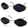 LENNON LOOK DIAMOND SHAPE METAL FRAME DARK LENS SUNGLASSES