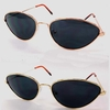 SMALL METAL FRAME, DARK LENS SUNGLASSES