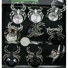 LARGE GEM SPIDER RING, ELASTIC BAND, 1 DZ IN STOCK