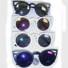 CAT SHAPE  METAL FLAT STYLE FRAMES WITH REVO LENSES