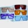 BRIGHT COLOR ANGULAR SHAPE FRAMES SUNGLASSES