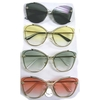 METAL FRAMES, SOFT COLOR LARGE LENSES SUNGLASSES