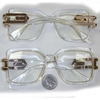 CLEAR FRAMES/CLEAR LESN RUN DMZ LOOK 90&#39S FASHION GLASSES
