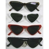 TRIANGULAR SHAPE SUNGLASSES, IN 4 BASIC COLORS, DARK LENS