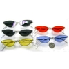 CAT SMALL METAL FRAMES COLOR LENS AND DARK LENS SUNGLASSES