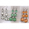 3 BEADS FALL EARRINGS