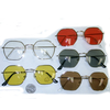 METAL FRAMES ODD SHAPE LENNON LOOK SUNGLASSES