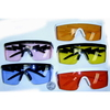 COLOR SHIELD STYLE SUNGLASSES, LIGHTING BOLT ARMS