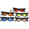 FUNKY CAT SHAPE FRAMES WITH COLOR LENSES SUNGLASSES