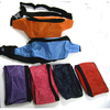 ASSORTED COLOR BASIC NYLON 2 ZIPPER FANNY PACKS