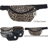 VINYLE FANNY PACKS IN ASSORTED LEOPARD COLORS