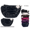 VINYL FANNY PACK WITH DESIGN PATTERN 2 ZIPPERS, ASSORTED COLORS